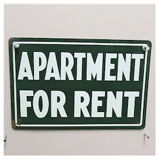 SOLD    Tin Sign Apartment for Rent