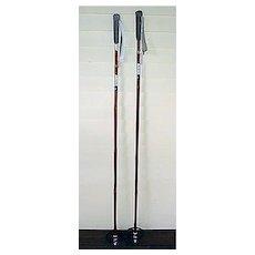 Pair Of Bamboo Ski Poles Near MINT