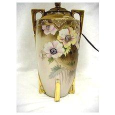 Lamp Original Nippon Porcelain Hand Painted Table Light