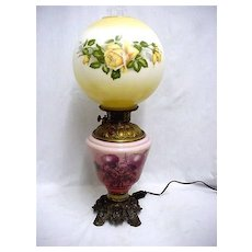Lamp Antique Gone with the Wind Table Lamp