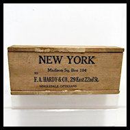 Wood Advertising Box F. A. Hardy New York