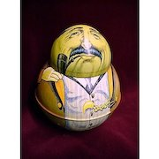 Roly Poly Business Man Tobacco Tin Advertising Dixie Queen Plug Cut