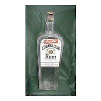 Advertising Cubana Club Brand Rum Liquor Bottle