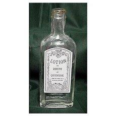 Rawleighs Drugstore or Pharmacy Bottle for Hair Care Lotion