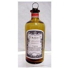 Amber Glass Pharmacy Bottle Lavender Ambree