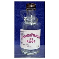 Medicinal Purgative Pharmacy Bottle