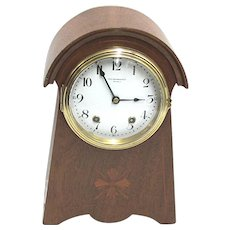 SOLD  August 2021   Antique Mantel Clock by Seth Thomas Inlaid Case  100% Original and Fully Restored