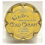 Cold Cream by Paul Du Bois Theatrical Guild Advertising Tin