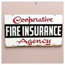 SOLD   Insurance Advertising Sign Double Sided