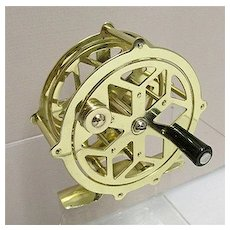 Raised Pillar Skeleton Solid Brass Fly Reel 50% OFF