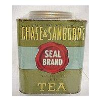 Tea Tin Advertising Chase and Sanborn's Seal Brand Black Tea