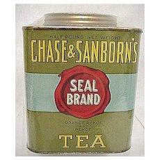 Chase & Sanborns Tea  Seal Brand Advertising Tin MINT 50% OFF