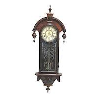 Restored William L.  Gilbert Clock Co  American Wall Clock Circa 1875 100% Original