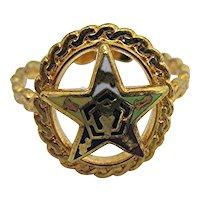 Ring Enameled Five Point Star 4 Different Sizes:  8 1/2     8 3/4     9     9  1/4