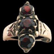 Ring Antique Victorian Garnet Size 6 1/2