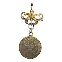 Antique Locket Lapel Pin Circa 1910