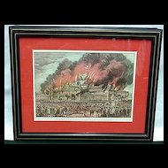 Framed Print  The Burning of New York Crystal Palace Currier and Ives