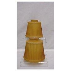 Amber Glass Shades Matching Pair