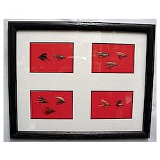 Ten Framed Fly Fishing Flies