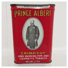 SOLD    See other tobacco tins still available Prince Albert Crimp Cut Tobacco Two Advertising Tins $18 each