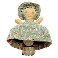 Topsy Turvy Cloth Doll American Folk Art