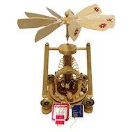 Christmas Nativity Pyramid or Carousel Candle Powered  German Erzgebirge