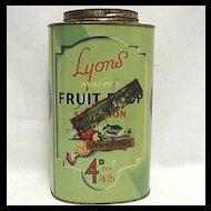 Lyons Fruit Drop Candy Tin