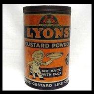 Lyons Custard Powder  Advertising Tin