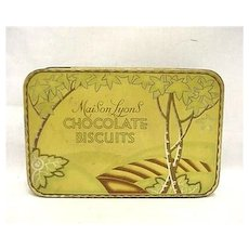 Maison Lyons Chocolate Biscuits Advertising Tin