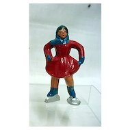 Barclay Cast Iron Girl Skater in Red
