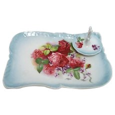Porcelain Vanity Tray and Ring Tree