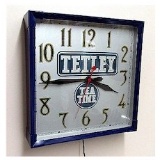 SOLD    Tetley Tea Advertising Clock