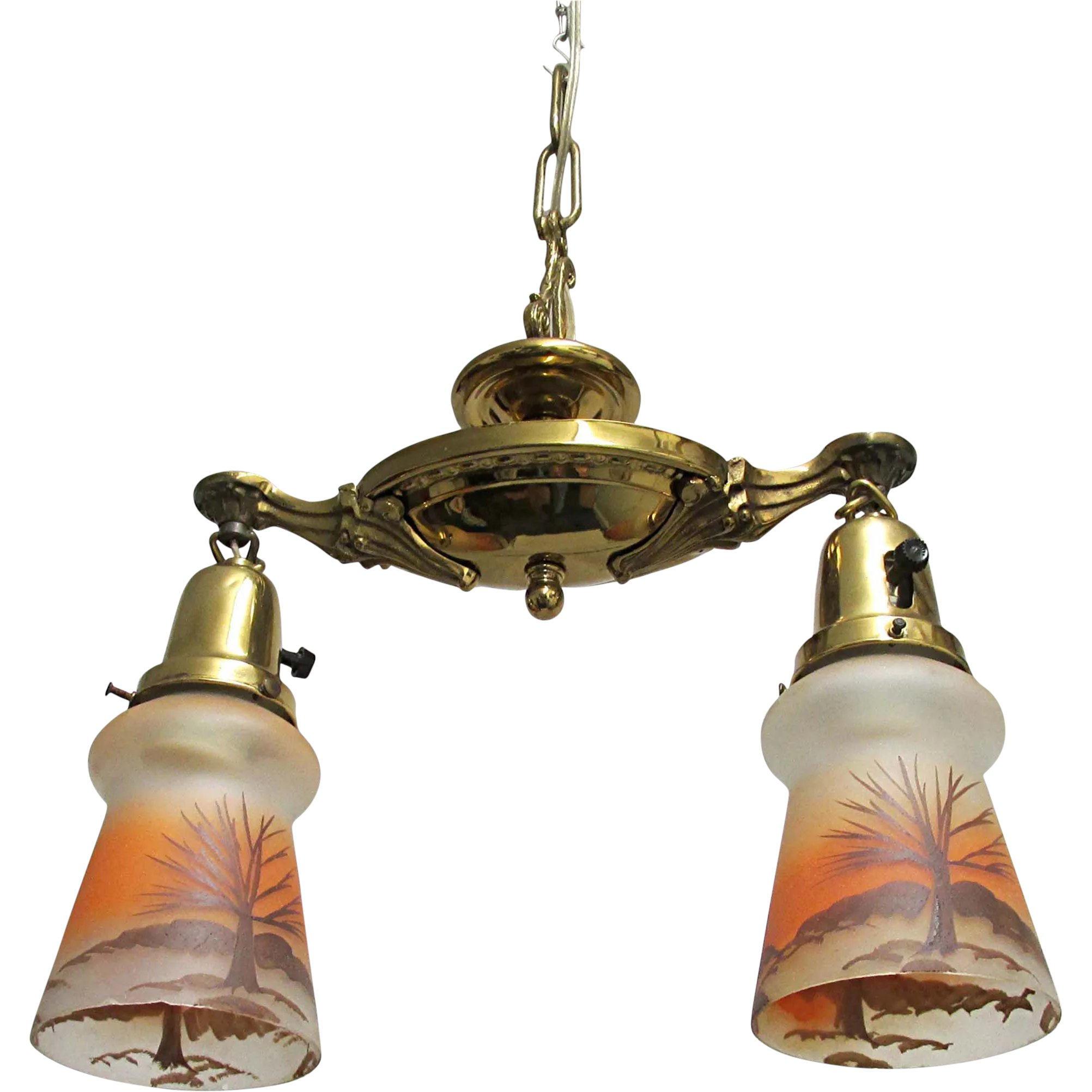 Victorian Two Drop Ceiling Light Fixture Hanging Lamp Drury House Antiques Ruby Lane
