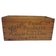 Libbys Food Products Wood Box or Shipping Crate