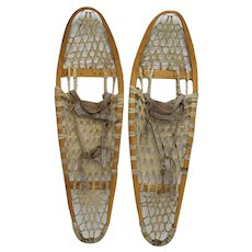 Matched Pair Of Antique Snowshoes