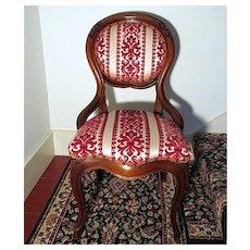 Victorian Balloon Back Chair