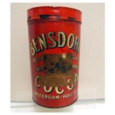 Bensdorp's  Royal Dutch Cocoa Soda Fountain Tin