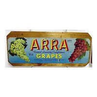 ARRA Grapes of California Wood Advertising Sign