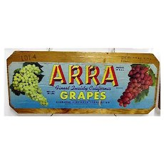 ARRA Grapes Wood Advertising Sign 50+% OFF