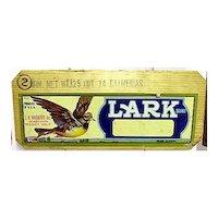 Lark  of California Wood Advertising Sign