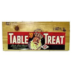 Table Treat Wood Advertising Sign
