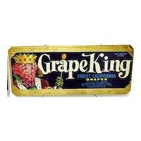 Grape King California Wood Crate Advertising Sign