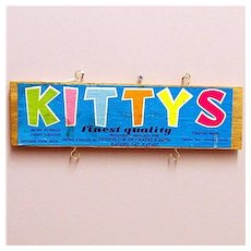 Kitty's Brand Cherry Tomatoes Wood Advertising Sign