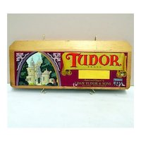 Tudor Brand of California Wood Crate Advertising Sign
