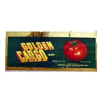 Golden Cargo Tomatoes of California Advertising Sign