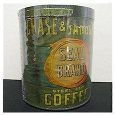 Chase & Sanborn's Seal Brand Coffee Advertising Tin