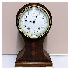 Antique Inlaid Balloon Mantle Clock By Seth Thomas Is 100% Original And Fully Restored