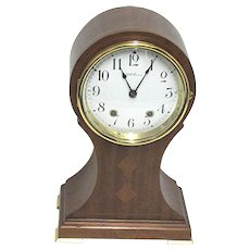 Seth Thomas Inlaid Balloon Mantle Clock 100% Original