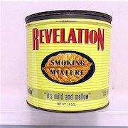 Revelation Advertising Tobacco Tin