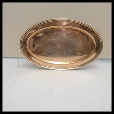 International Silver Company Engraved Oval Serving Tray